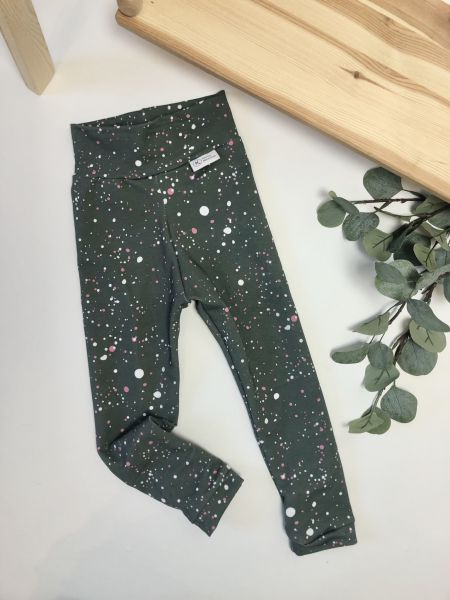 Leggings Dots grau pink