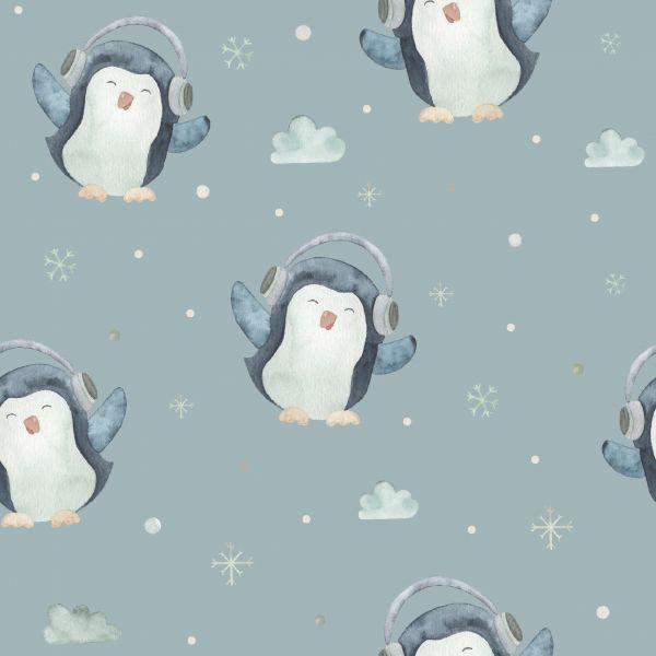 Sweat Pinguine Hellblau