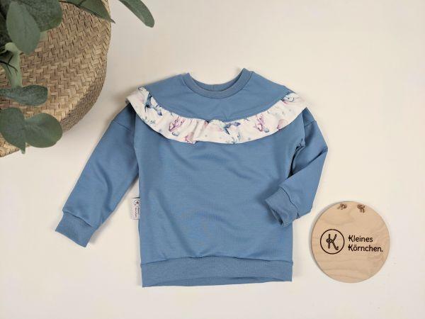 Dainty Sweater Blau mit Rüschen