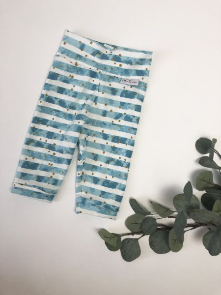 Kurze Leggings Größe 86/92 blau weiß gesteift