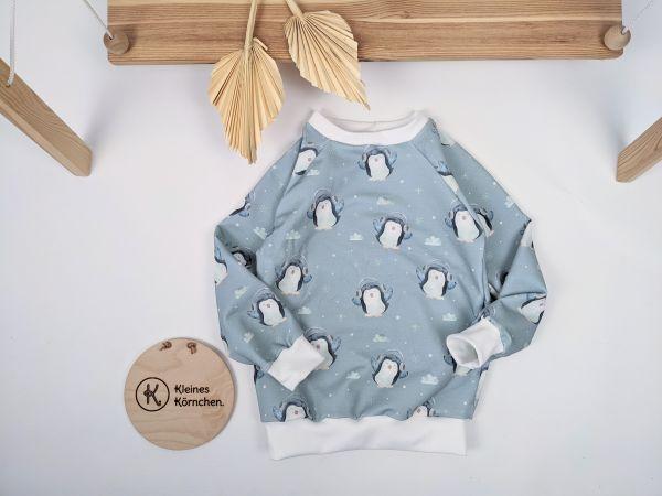 Pullover Pinguine Hellblau