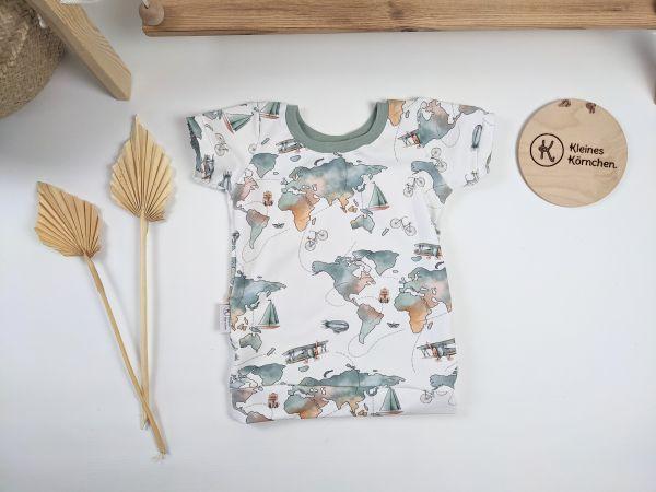 Shirt Weltenbummler grün