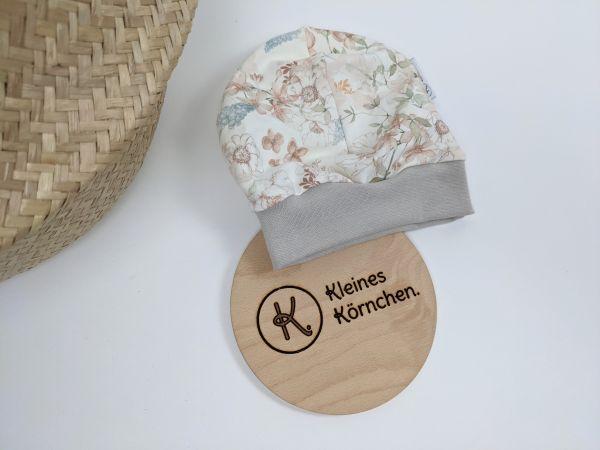 Mütze Pastell Blumen