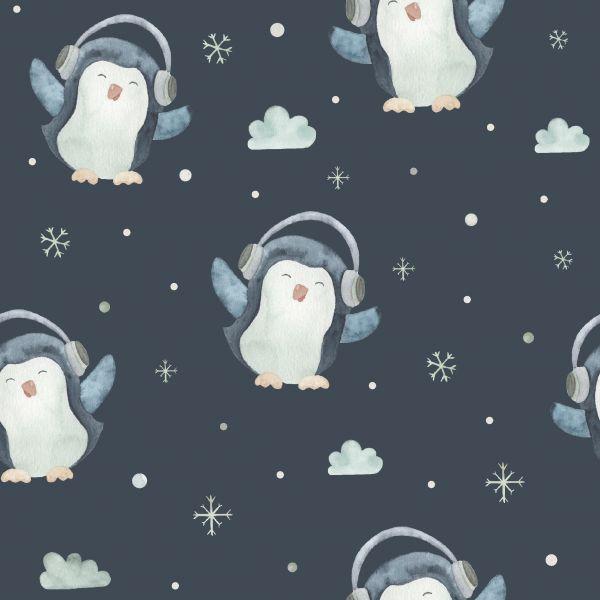 Sweat Pinguine Dunkelblau
